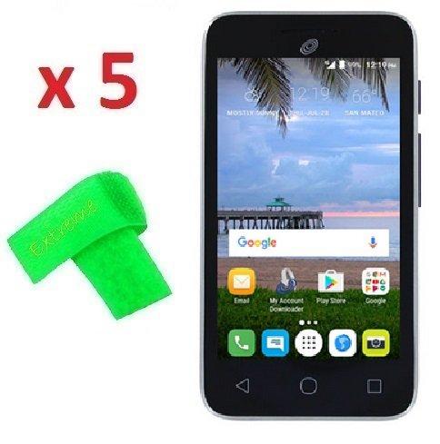 5 x Alcatel UNITE A466BG Screen Protector Guard CLEAR PRE-CUT No Cutting Require Perfect Fit + EXTREME BRAND (5 x Clear Screen Protector)