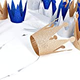Boieo Champagne Gold Birthday Party Crowns Hats, 6