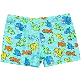 HAINASIDUN Boys Swim Trunks Polyster Quick Dry Swimming Shorts Cartoon Fish Boxer