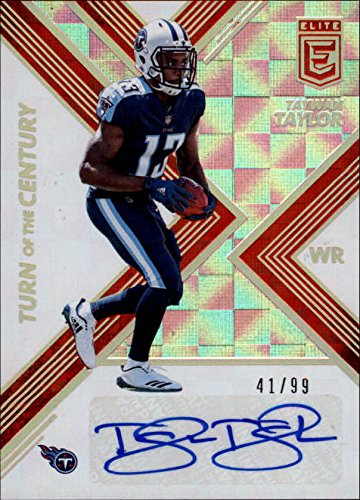 2017 Elite Turn of the Century Autographs Red #49 Taywan Taylor RC AUTO /99