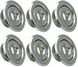 Happy Tree 6 Pack 3/4 Inch IPS Fire Sprinkler Head Escutcheon 3/4'' Adj. Standard Recessed Cover Trim Ring 2 Piece Rosette Chrome