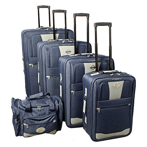 Transworld 5 Piece Expandable Wheeled Upright Luggage (5 Piece Expandable Luggage Set)