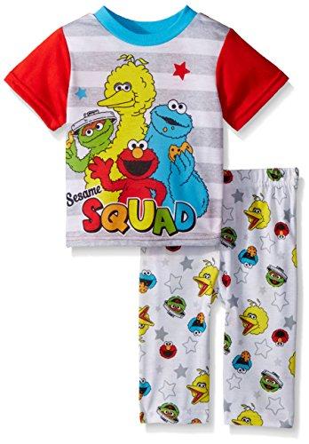Sesame Street Baby Boys Elmo 2-Piece Pajama Set, Sesame White, 24M