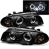 bmw 325xi headlights - BMW E46 3-Series 4 Doors Sedan Black Halo Ring LED Projector Headlights Replacement Left + Right