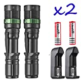 Tactical Police 12000LM CREE XM-L T6 LED 5Modes 18650 Flashlight Battery&Charger