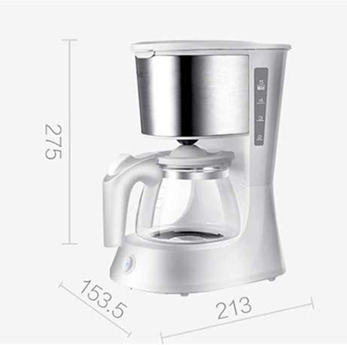 Filtro de café de la máquina, anti-goteo diseño, hogar Cafetera exprés con 600 ml de cristal Caldera, polvo del café de filtro, anti-goteo de aislamiento de la tetera: Amazon.es: Hogar