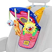 ToyVelt Car Seat Toys for Infants - Kick and Play Fun Hanging Rear Carseat Toy Super Soft, Safe with Music - Y