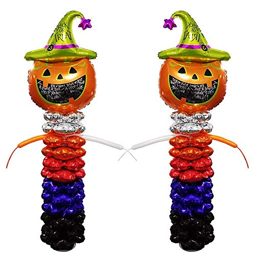 latable Pumpkin Balloon Column Stand Kit Home Yard Party Decoration Props 6 Foot ()