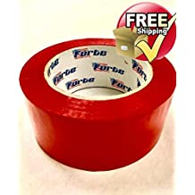 """RED Color Packing Tape – 2"""" x 110 Yds. Per Roll 2.0Mil, (Pack of 6 Rolls) Carton Sealing Tape – Boxing Tape - Acrylic Tape"""
