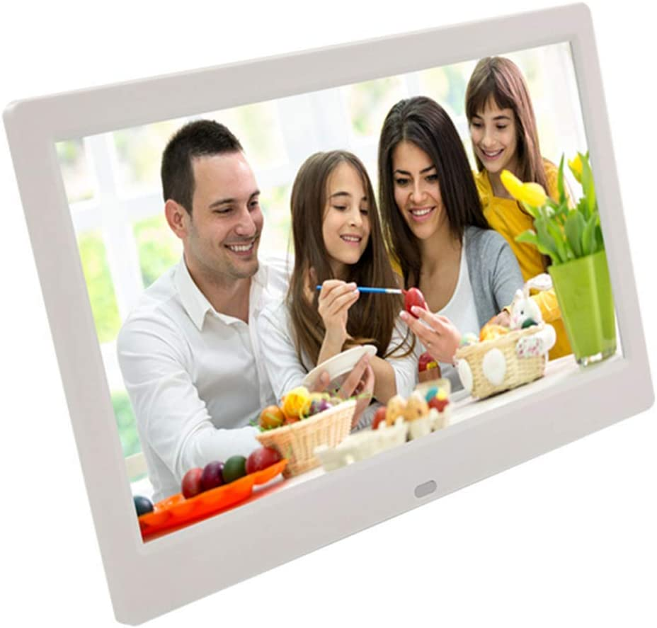 Remote Control,Black MUYEY 10 Inch Digital Photo Frame 1280x800 High Resolution Full IPS Display Photo//Music//Video Player Calendar Alarm Support USB and SD Card
