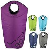 Tempracell - Paniers à linge pliables - Grand sac de linge sale - Avec inscription degrés de lavage - Violet 90 degrés