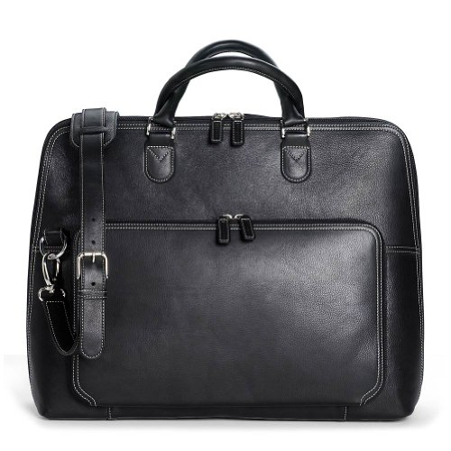 Levenger Majorca Expandable Laptop Bag, Black (AL10500 BK)