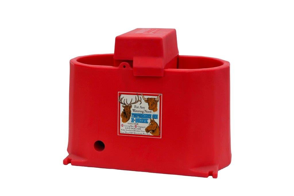 Brower MPO17E 17-Gallon Heated Poly Waterer, Red by Brower