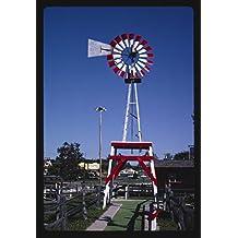 24 x 16 Photo of Windvane, Old Kilbourn mini golf, Route 12, Wisconsin Dells, Wisconsin 1988 Margolies, John 63a