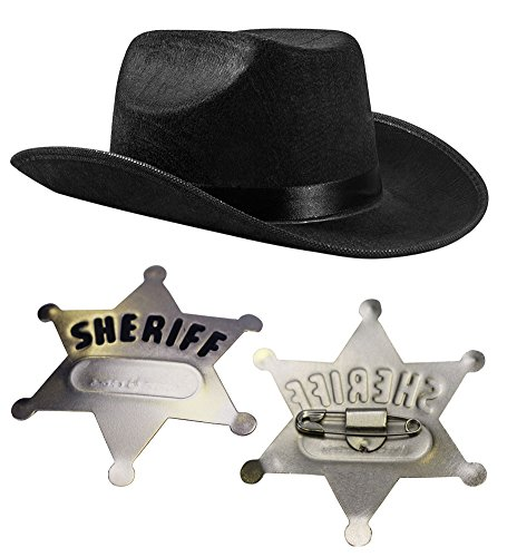 [Sheriff Set with Hat and Badge - Children's Cowboy Costume by Funny Party Hats®] (Sailor Straw Hat)