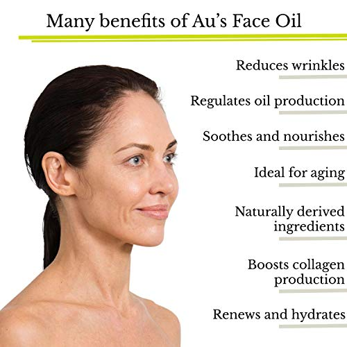 Dr. Au Anti-Aging Face Oil Serum by Au Natural Skinfood – Promotes Youthful, Glowing Skin Collagen Boosting Wrinkle Repair Effective Daily Moisturizing Serum for Sensitive, Dry and Acne-Prone Skin