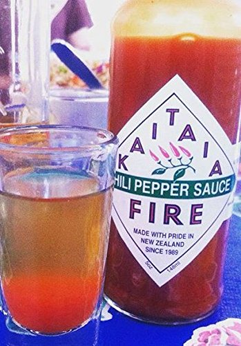 New Zealand's Famous Kaitaia Fire Chili Pepper Hot Sauce Made with Organically Grown Cayenne Chilis Pack of 3 bottles by Kaitaia Fire (Image #3)