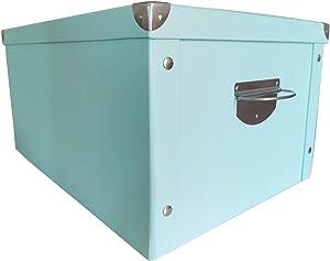 X-super Decorative Storage Cardboard Boxes with Lip Sturdy Organizer Gift Boxes for Keepsake Toys Photos Memories Closet Nursery Office File Wardrobe Bookshelf Display Case