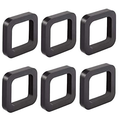 ORANDESIGNE 6 Pack Hitch Receiver Silencer Pad for Any 2 inch Hitch Trailer Receiver Tow and Stow to Reduce Rattle Noise Provide Cushion Between Receivers and Tow Hitches for Trailer Car Truck: Automotive