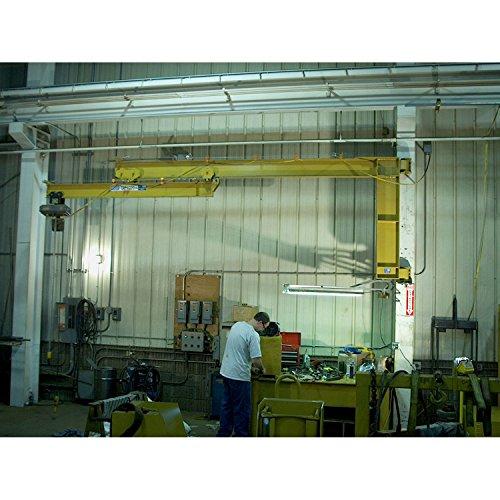 (Contrx Wall-Mount Full Cantilever Telescoping Jib Crane, 11' 10-3/4