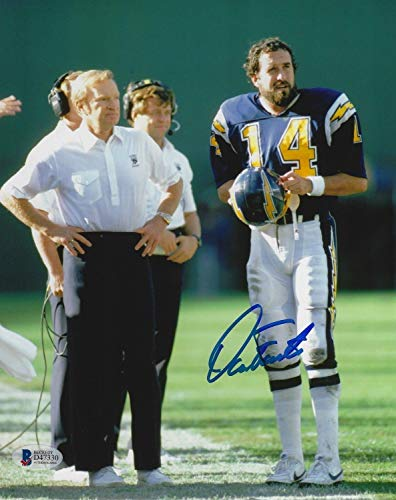 Dan Fouts Autographed Signed Chargers Football 8x10 Photo Signature - Beckett Authentic Picture Don Air Coryell ()