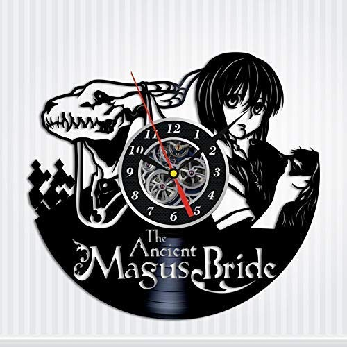- Art Finder The Ancient Magus Bride Figure Gifts Vinyl Record Wall Clock - Get Unique Bedroom or livingroom Wall Decor - Gift Ideas for Boys and Girls Perfect Element of The Interior Handmade Gift