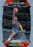 Lebron James basketball card (Cleveland Cavaliers All Star NBA MVP) 2015 Prizm All NBA #375
