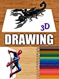 Time Lapse 3D Drawings of Animals and Movie Characters
