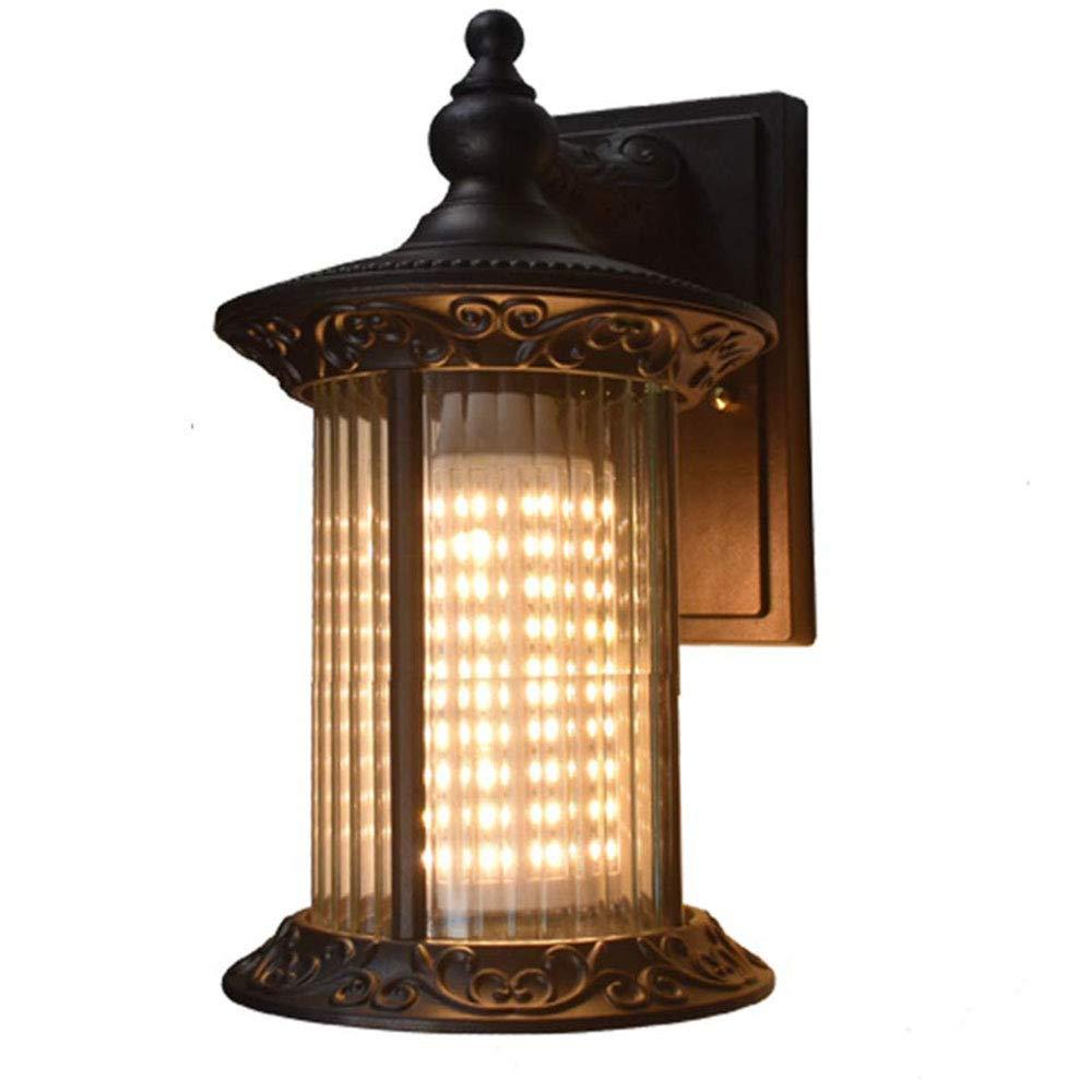 LUXUEY Annata Esterno Muro Luce Impermeabile Aluminiu Lampada da Parete in Vetro Creativo Paralume E27 Lampada da Parete Esterna Lampada Balcone Giardino corridoio Ingresso Illuminazione