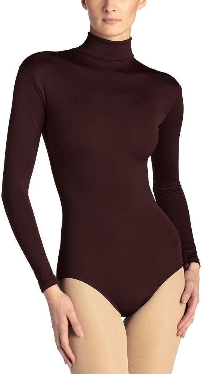 a maniche lunghe Body da donna in tessuto elasticizzato