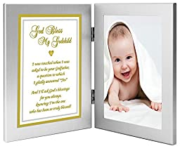 Godson or Goddaughter Gift From Godfather - Baptism or Christening - Add Photo