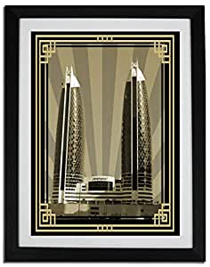 Photo of Damac Tower-Sepia With Gold Border No Text F06-NM (A1)