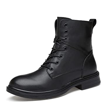 Amazon.com Zhukeke Men\u0027s Winter Ankle Military Boots for