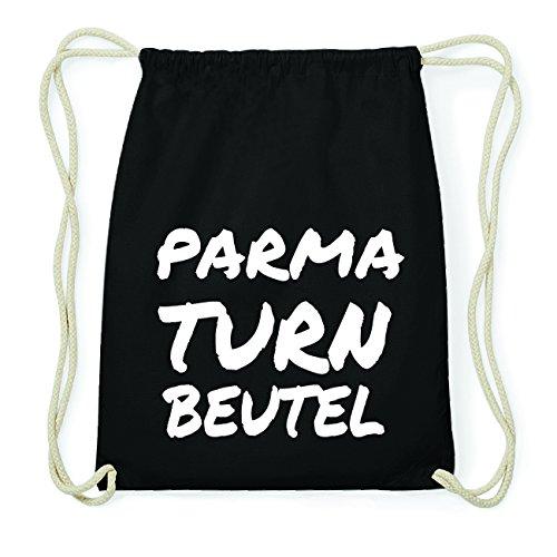 JOllify PARMA Hipster Turnbeutel Tasche Rucksack aus Baumwolle - Farbe: schwarz Design: Turnbeutel