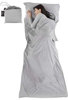 Single Sleeping Bag Liner Soft 100/% Cotton Camping Sleep Sheet Quality