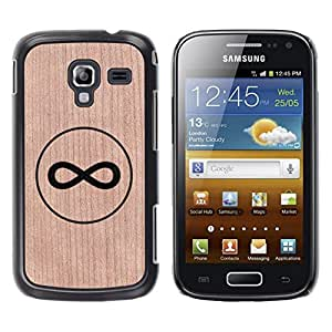 - / Infinity Mathematics Band Deep Meaning - - Funda Delgada Cubierta Case Cover de Madera / FOR Samsung GALAXY Ace 2 I8160 / Jordan Colourful Shop/