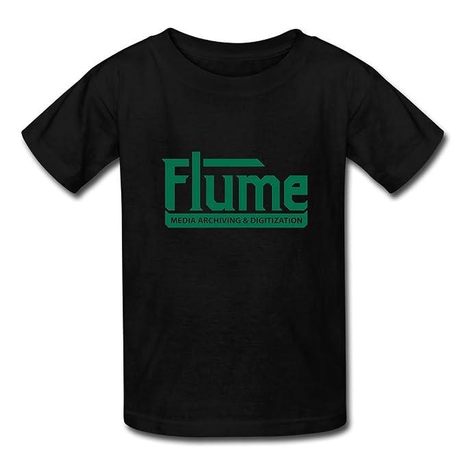 Flume Media Archiving Digitization Logo Printed T-Shirt for Man XS