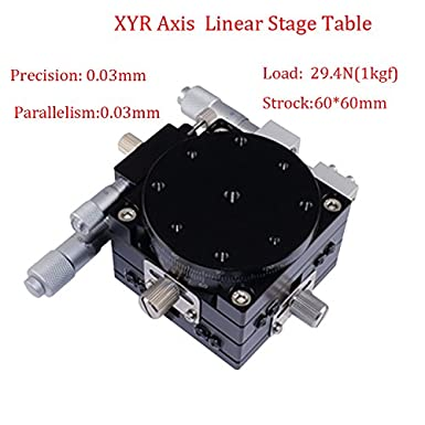 XYZ 3-Axes Linear Stage Manual XYZ Trimming Platform Aluminum Alloy Rack Guide Sliding Stage for Optical Instruments Measuring Devices Testing Machines Laboratory Precision Experiment