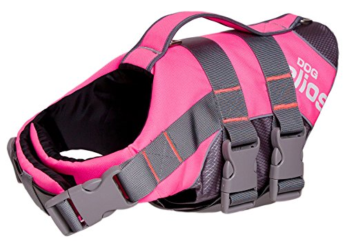 DogHelios Splash-Explore' Outdoor Performance 3M Reflective and Adjustable Buoyant Safety Floating Pet Dog Life Jacket Vest Harness, Small, Pink by DogHelios