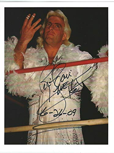 Ric Flair Signed Promo 8.5x11 Photo WWE #4 - Autographed Wrestling Cards