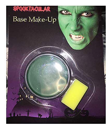 MA ONLINE Unisex Halloween Witches Zombie Vampire Joker Make Up Base Fancy Dress Accessory Green