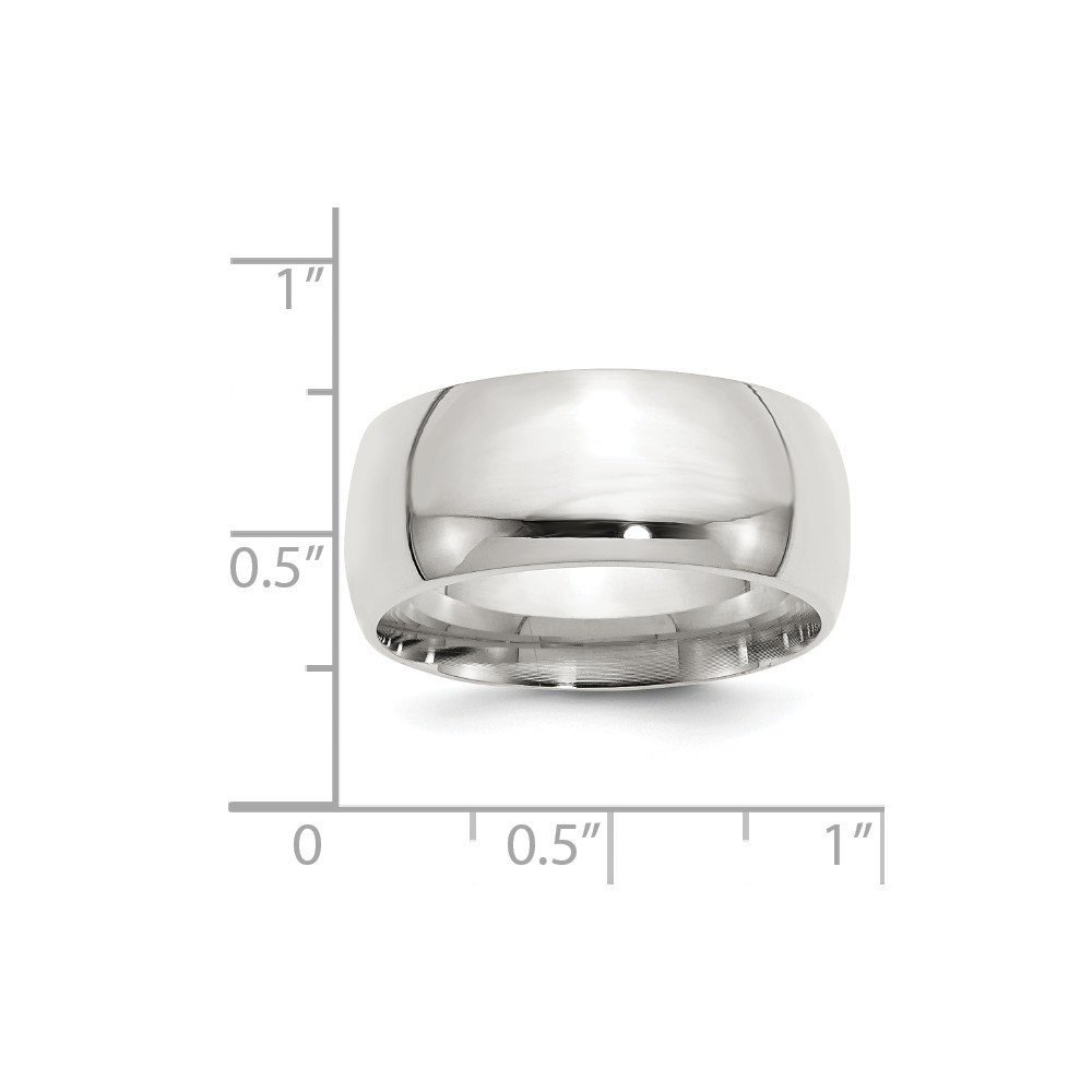 Jewelry Stores Network 10mm Comfort Fit Sterling Silver Wedding Band Ring