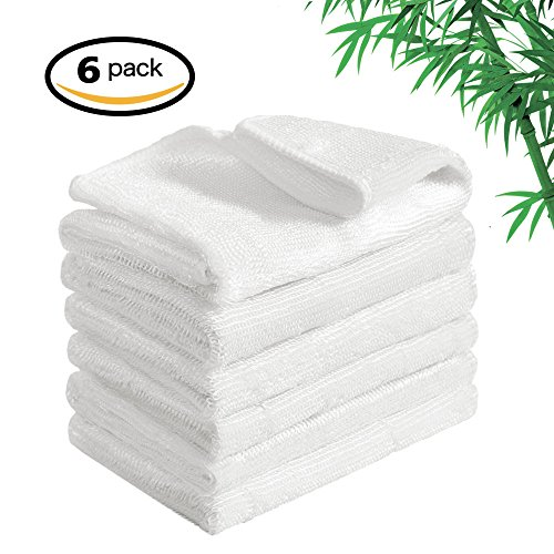 Bamboo Fiber Dish Cloths Super Absorbent & Quick Dry Kitchen Rag for Washing Dishes Durable Household Cleaning Dishcloths Rags 6 Pack 12 X 12 inch (6 pack) Bamboo Dish Cloth