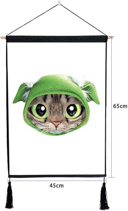 mmzki Gato de Ojos Grandes Que cuelga la Pintura del Dormitorio de ...