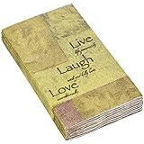 Avanti Live, Love and Laugh Guest Paper Towels, Multicolored 16 count