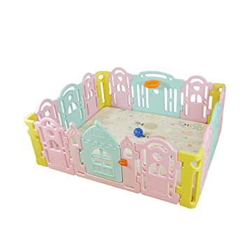 Activity & Entertainment baby playpen Child Safety Fence,Game Fence Plastic Fence Folding Indoor Outdoor Security Game Fence