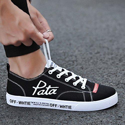 YaNanHome scarpe casual da stile da Espadrillas uomo 43 snowboard Red basse scarpe di tendenza Scarpe traspirante Black Color estiva Scarpe Size coreano uomo da selvatici tela scarpe r7rxZwaq