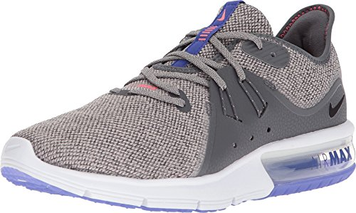 Nike Men's Air Max Sequent 3 Running Shoe (6.5, Dark Grey/Black-Moon Particle) by Nike (Image #9)
