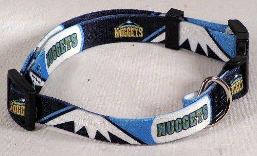 NBA Denver Nuggets Adjustable Pet Collar, Small, Team Color