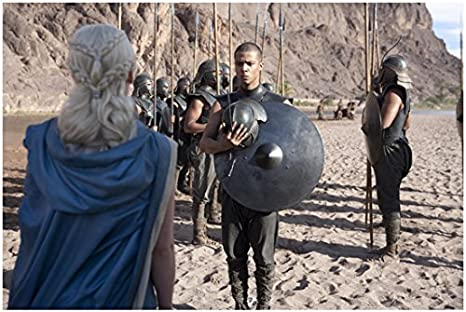 Game Of Thrones Jacob Anderson As Grey Worm Unsullied Leader Vowing To Protect The Kahleesi 8 X 10 Inch Photo At Amazon S Entertainment Collectibles Store